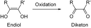 Oxidación del endiol